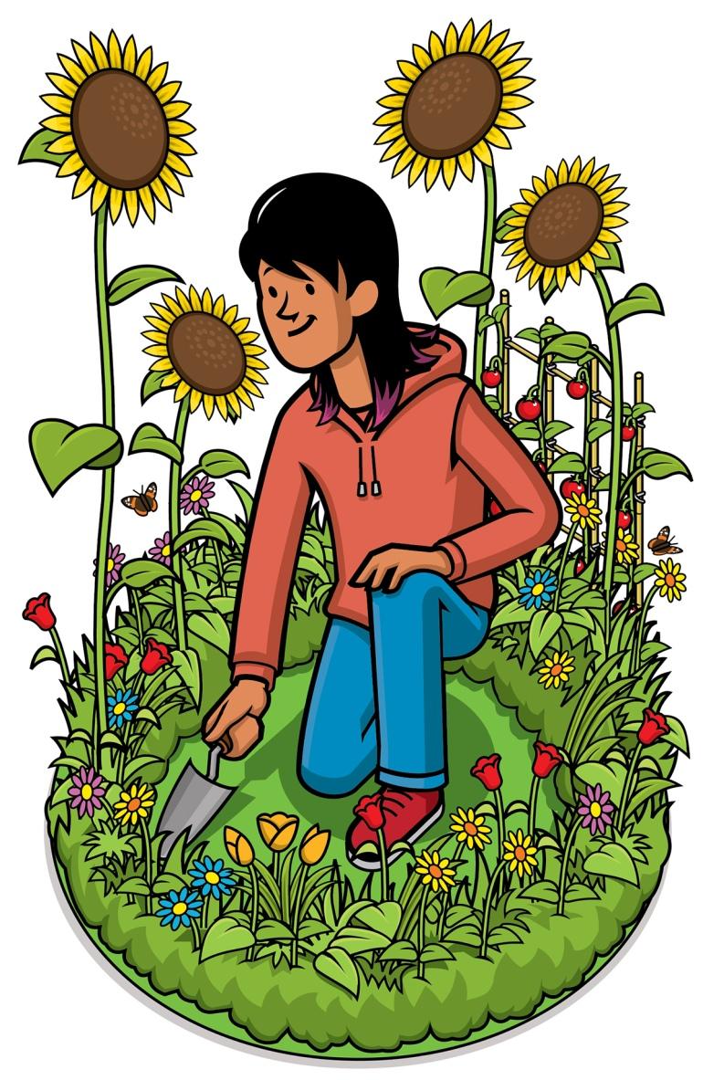 girl-gardening