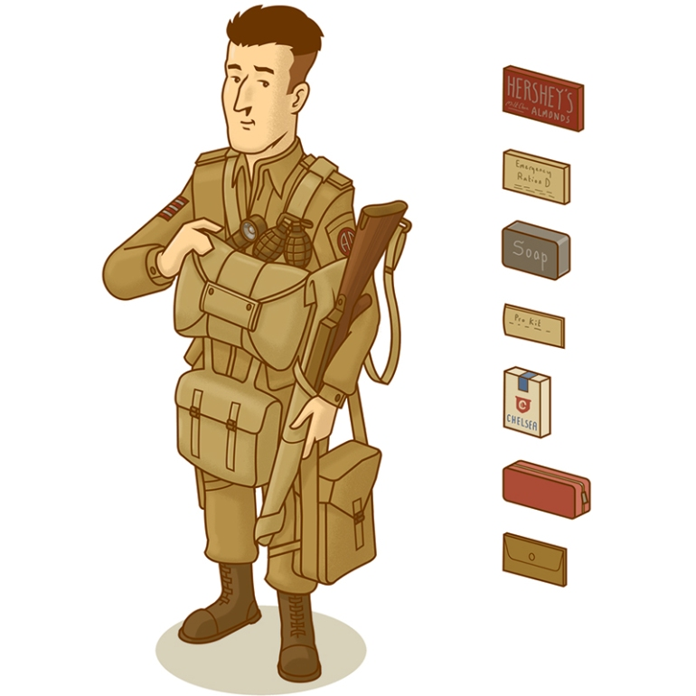 nathandaniels_38_ww2 paratooper soldier infographic